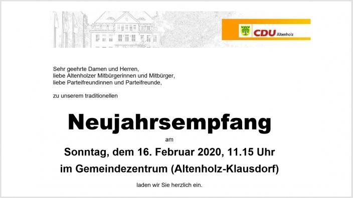 CDU-Neujahrsempfang 2020
